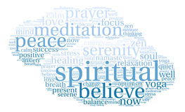 Spiritual Word Cloud. On a white background Stock Images