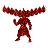 Spiritualiteit van de het silhouet de traditionele godsdienst van het Ramayanpatroon vector illustratie