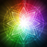 Spirituality. Background of abstract spirituality lotus Stock Image