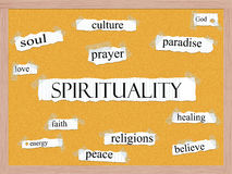 Spirituality Corkboard Word Concept Royalty Free Stock Photo