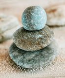Spirituality and enlightenment with Zen stones Stock Photos
