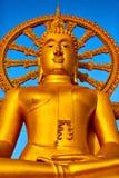 spirituality Gouden Boedha, Wat Phra Yai Temple, Thailand Reli royalty-vrije stock afbeelding