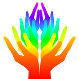 Spirituality, peace and love. Colorful icon Stock Photography