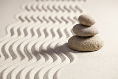 Spirituality with sinuous waves on sand Royalty Free Stock Images