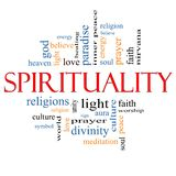 Spirituality Word Cloud Concept Royalty Free Stock Images
