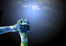 Spirituallity en empathie voor Aarde Royalty-vrije Stock Afbeeldingen