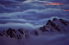 Spiritueux de montagne Image libre de droits