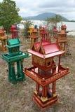 Spiritus-Häuser, Thailand lizenzfreies stockfoto