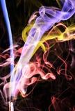 Spirls colorido do fumo do incenso ilustração do vetor