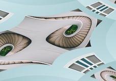 Spirls prostokątów kształty Odizolowywający na błękicie Obraz Stock