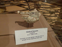 Spiro Mounds Archaeological Center Head of Tlanuwa Stock Image