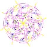 spirograph Картина геометрическо круг Иллюстрация Vectir иллюстрация вектора
