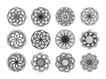 Spirograph collection Royalty Free Stock Photos
