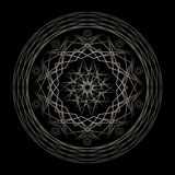 Spirograph dark tones. Volumetric Spirograph dark gray tones Royalty Free Stock Photography