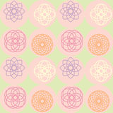 Spirograph on dot pattern Stock Images