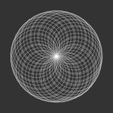 Spirograph element vector illustration on black background. Abst. Ract symbol Royalty Free Stock Photography