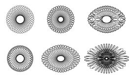 Spirograph elements Stock Photo