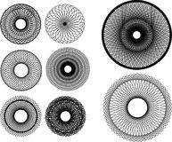 Spirograph Elements and Symbols. Set of Spirograph-like Elements and Symbols Royalty Free Stock Photography