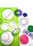 Spirograph and geometric pattern Royalty Free Stock Photography