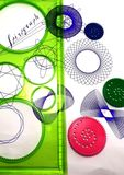 Spirograph and geometric pattern Stock Photography