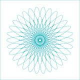 Spirograph geometric shape suitable for watermark. Vector isolated on white background Royalty Free Stock Images