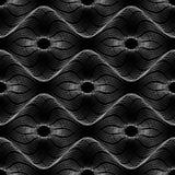 Spirograph geometrische het herhalen textuur Abstract vector naadloos moirépatroon Vector Illustratie