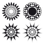 Spirograph ornament tattoo design elements Stock Photography
