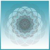 Spirograph pastello di Grey blu Immagini Stock
