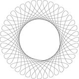 Spirograph pattern frame. On a white background, vector illustration Stock Image