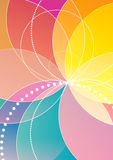 Spirograph rainbow background. Eps 10 Royalty Free Stock Images