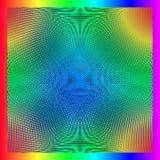 Spirograph von parallelen Linien Stockfoto