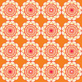 Spirographic orange seamless background Stock Photography