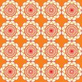 Spirographic oranje naadloze achtergrond Stock Fotografie