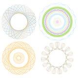 Spirol wykresu cztery elementy Obrazy Stock
