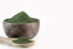 Spirulina alg błękitnawa zieleń - Spirulina obrazy stock