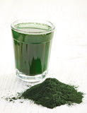 Spirulina algae powder Stock Image
