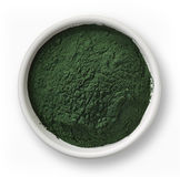 Spirulina algae powder Stock Photos
