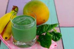 Spirulina green smoothie Royalty Free Stock Image