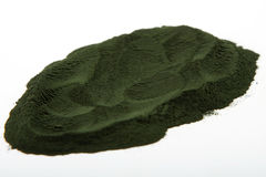 Spirulina powder algae Royalty Free Stock Photos