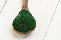 Spirulina powder Royalty Free Stock Photos