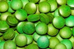 Spirulina verde Imagen de archivo libre de regalías