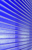 spiry lines, blue metal grid Stock Photos
