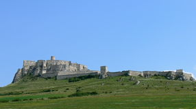 Spis castle. The biggest castle ruin in slovakia royalty free stock images