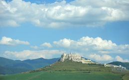 Spis castle. The biggest castle ruins in Clovakia stock images