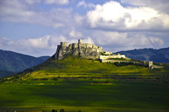 Spis Castle. In Slovakia from the road stock photos