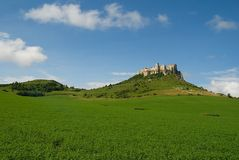 Spis castle. The ruins of Spis castle, Slovakia stock photography