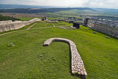 Spis castle. The biggest castle ruin in slovakia royalty free stock photos