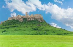 Spis castle on the hill stock image