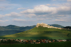 Spis castle on the hill. Unesco World Heritage Site, Slovakia stock photography