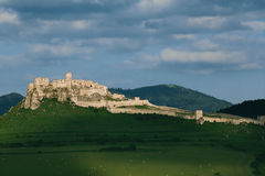 Spis castle on the hill. Unesco World Heritage Site, Slovakia stock image